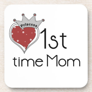 Princess Heart 1st Time Mom Gifts Coasters