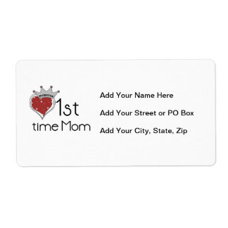Princess Heart 1st Time Mom Gifts Shipping Label