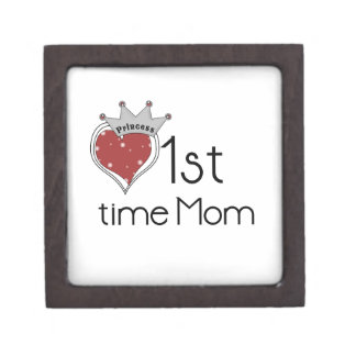 Princess Heart 1st Time Mom Gifts Premium Trinket Boxes