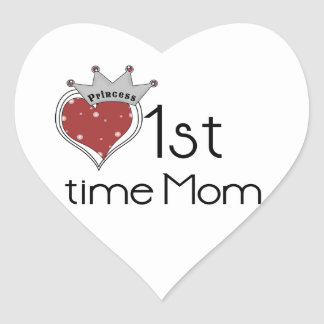Princess Heart 1st Time Mom Gifts Heart Sticker