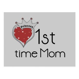 Princess Heart 1st Time Mom Tshirts and Gifts Postcard