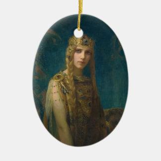 Princess Helen Wearing a Crown Ceramic Ornament