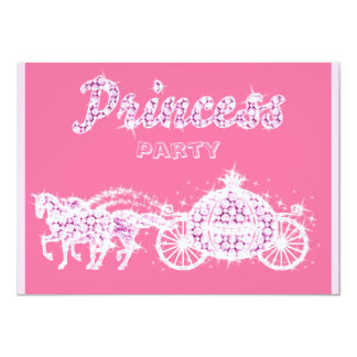 Princess Horses & Carriage Birthday Party Card