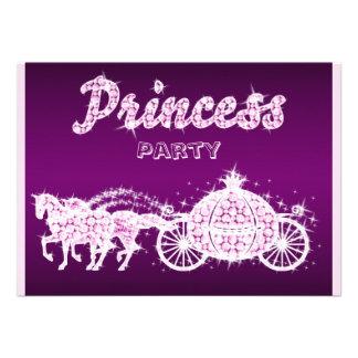 Princess Horses Carriage Birthday Party Invitation