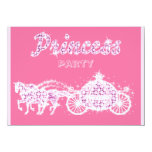 Princess Horses & Carriage Birthday Party Custom Announcement