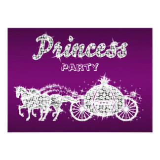Princess Horses Carriage Birthday Party Personalized Invites