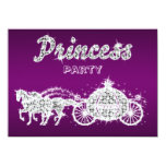 Princess Horses & Carriage Birthday Party Personalized Invites