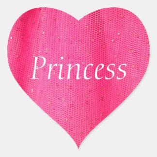 Princess Hot Pink Heart Sticker