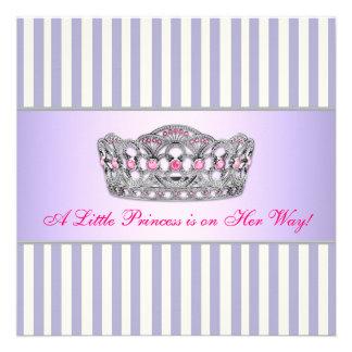 Princess Hot Pink Lavender Purple Baby Girl Shower Custom Invites