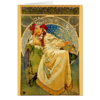 Princess Hyacinth by Mucha Greeting Card