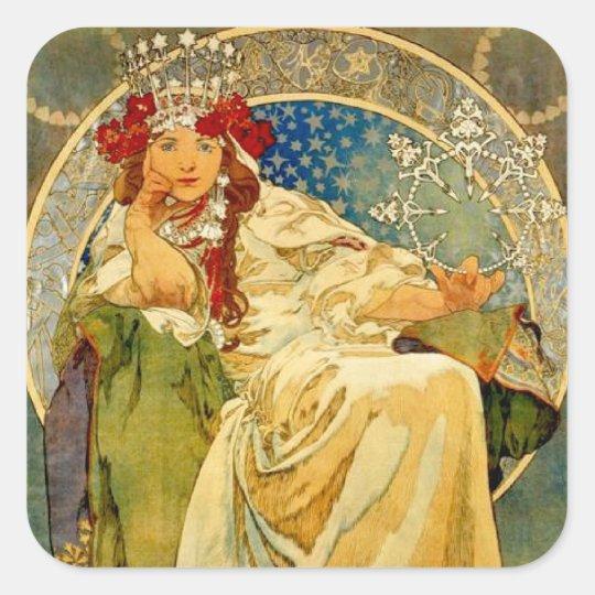 Princess Hyacinth by Mucha Square Sticker