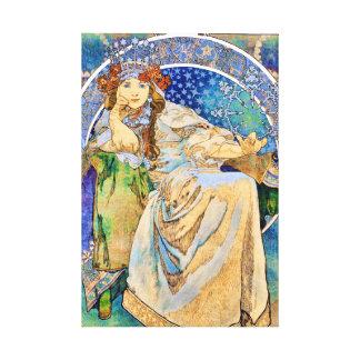 Princess Hyacinth Vintage Theater Advertisement Canvas Print