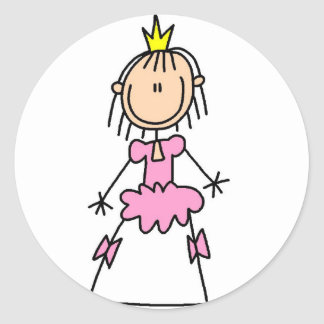 Princess In Ball Gown Sticker
