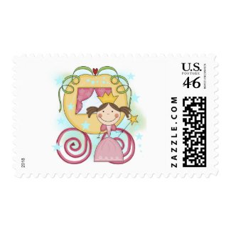 Princess in Carriage T-shirts and Gifts stamp