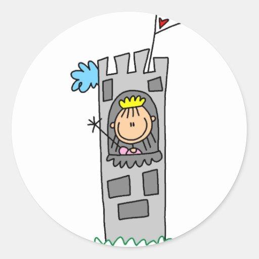 Princess In Castle Tower Sticker