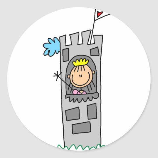 Princess In Castle Tower Sticker