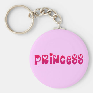 Princess in Hearts Keychain