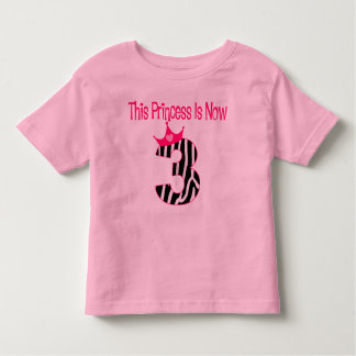 Princess in now 3 t-shirt