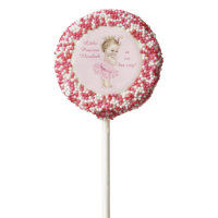 Princess in Pink Tutu Personalized Baby Shower Chocolate Dipped Oreo Pop