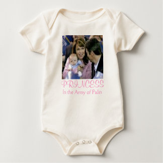 PRINCESS in the Army of Palin Baby Bodysuit