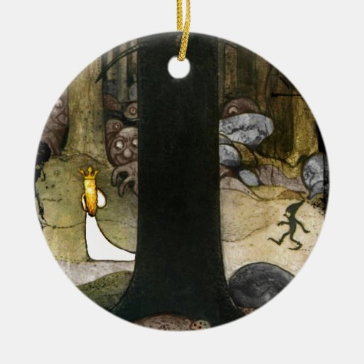 Princess in the Woods Double-Sided Ceramic Round Christmas Ornament