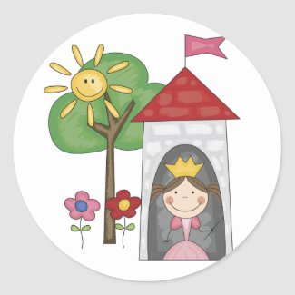 Princess in Tower Tshirts and Gifts sticker