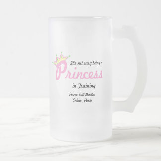 princess in training frosted glass beer mug