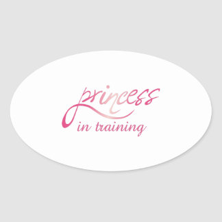 PRINCESS IN TRAINING OVAL STICKERS