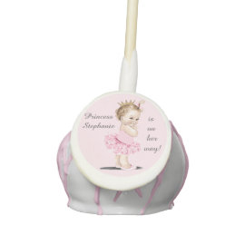 Princess in Tutu Personalized Baby Shower Cake Pops