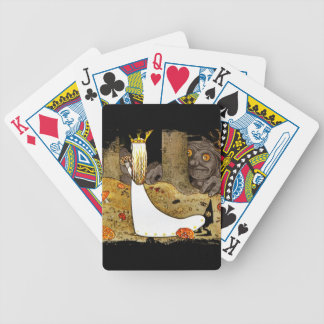 Princess in White with flowers Bicycle Playing Cards