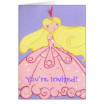 Princess Invitation Stationery Note Card