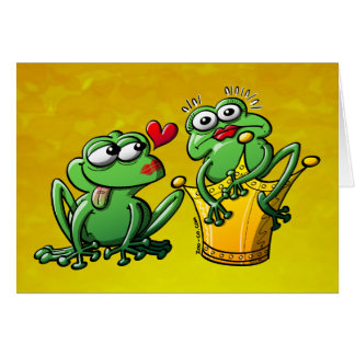 Princess is a Frog Now Card
