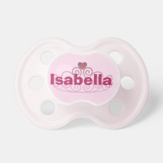 Princess Isabella Pink Pacifier Personalize It1