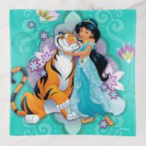 Princess Jasmine & Rajah Floral Trinket Trays