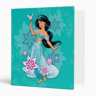 Princess Jasmine with Bird Floral 3 Ring Binder