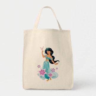 Princess Jasmine with Bird Floral Tote Bag