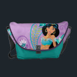 """Princess Jasmine with Feathers &amp; Flowers Messenger Bag<br><div class=""""desc"""">Disney Princess: Jasmine</div>"""