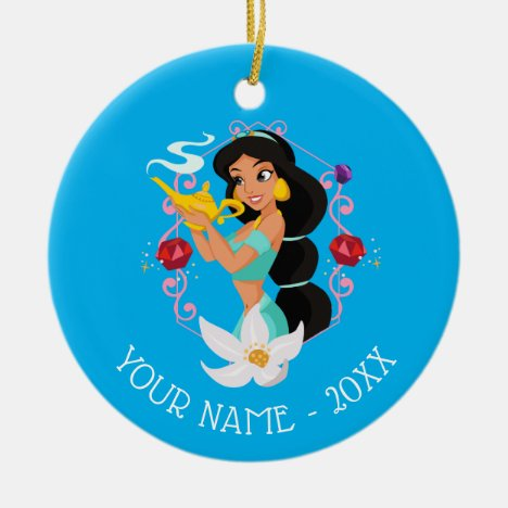 Princess Jasmine With Magic Lamp Ceramic Ornament
