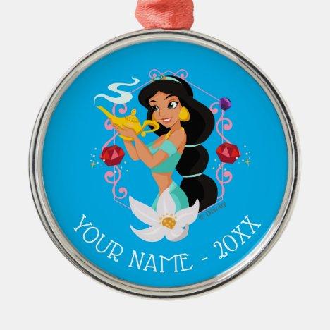 Princess Jasmine With Magic Lamp Metal Ornament