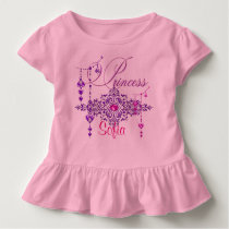 Princess Jewels Custom Pink Toddler Ruffle Tee