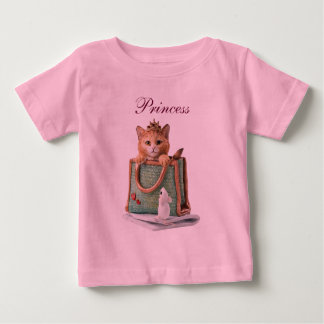Princess Kitten in Bag with Mouse & Magazine Baby T-Shirt