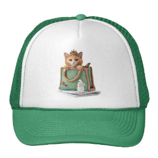 Princess Kitten in Bag with Mouse & Magazine Trucker Hat