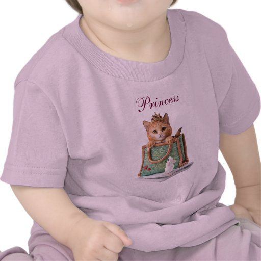 Princess Kitten in Bag with Mouse & Magazine Tshirt