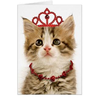 Princess Kitten Valentine's Day Card