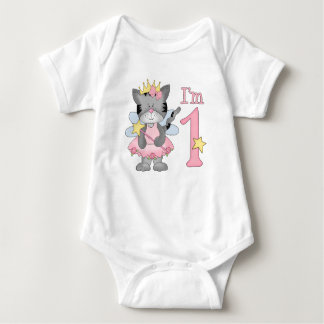 Princess Kitty 1st Birthday Baby Bodysuit