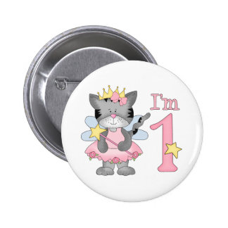 Princess Kitty 1st Birthday Button