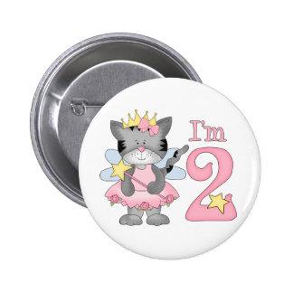 Princess Kitty 2nd Birthday Button