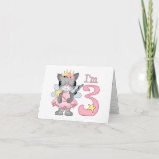 Princess Kitty 3rd Birthday Greeting Card