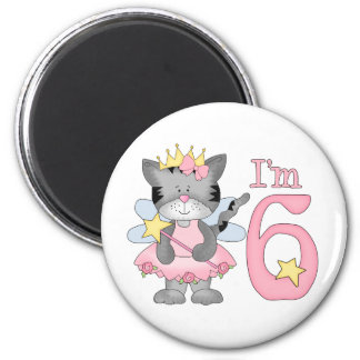 Princess Kitty 6th Birthday Magnet
