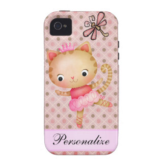 Princess Kitty Ballerina & Dragonfly iPhone 4 iPhone 4 Cases